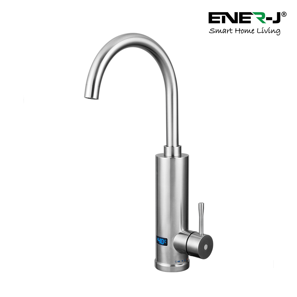Electronic Bathroom Basin Hot Water Tap with Digital Display of Temperature