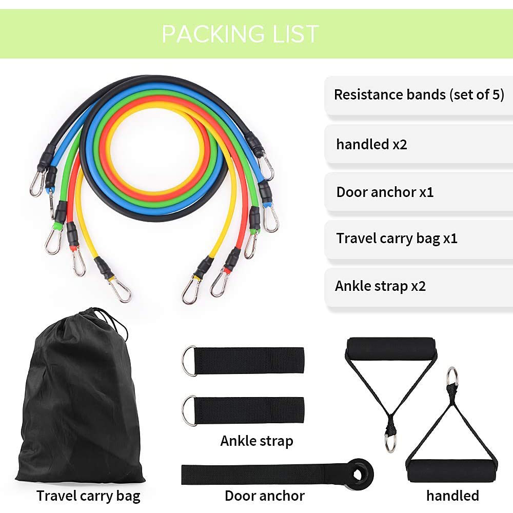 Home Exercise Resistance Band 11pcs set
