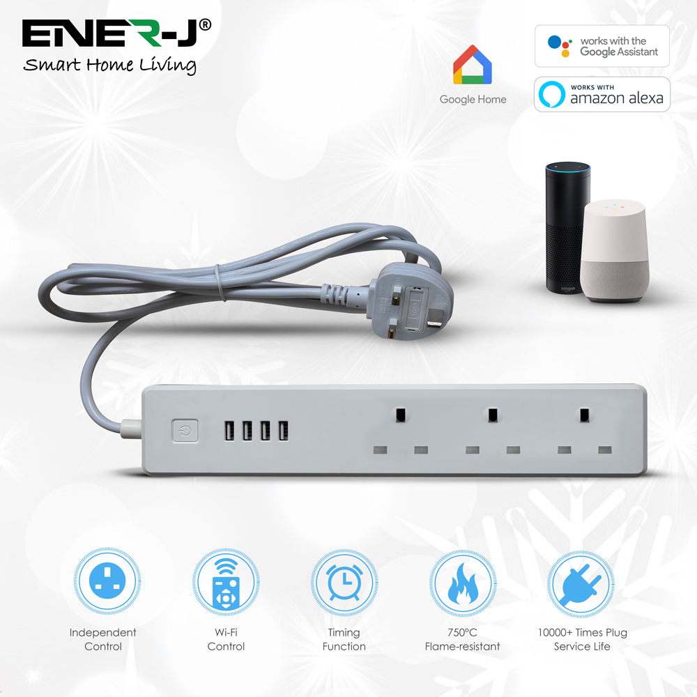 Wifi Power Strip Extention Box with USB