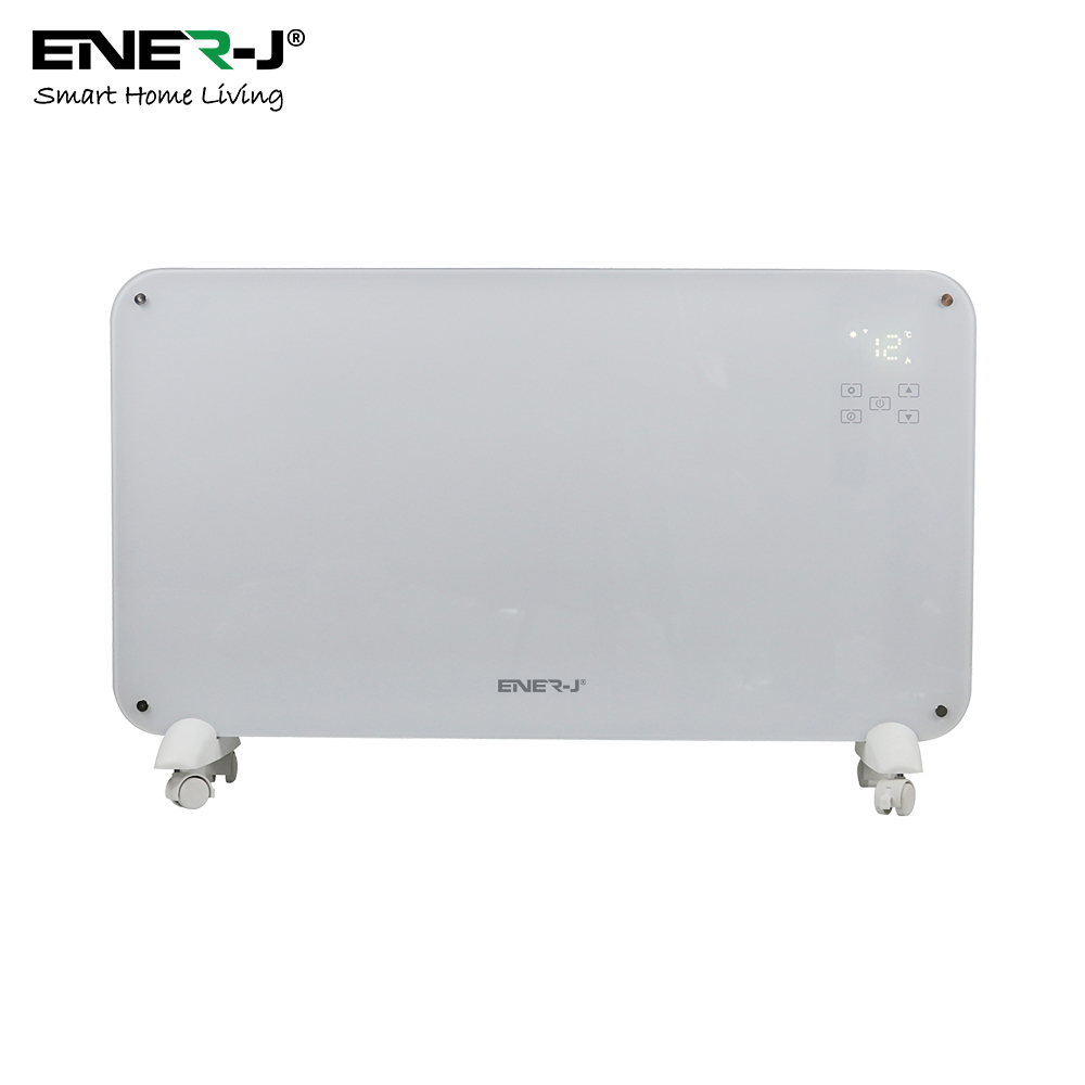 WiFi Smart Heater 2000W White tempered Glass