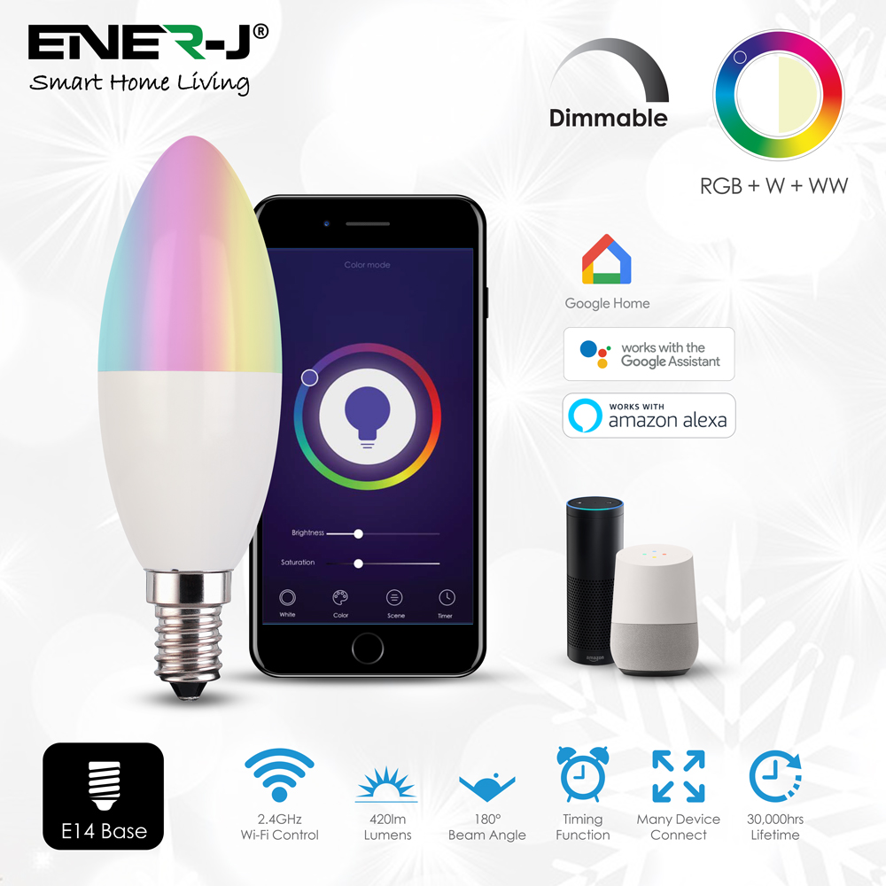 WIFI SMART LED CANDLE LAMP E14