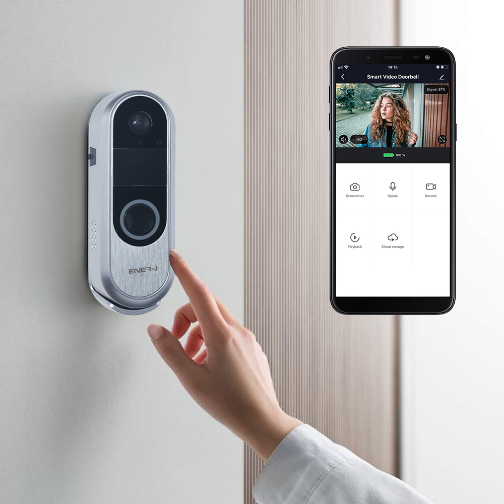Slim Wireless Video Door Bell with 2 Way Audio