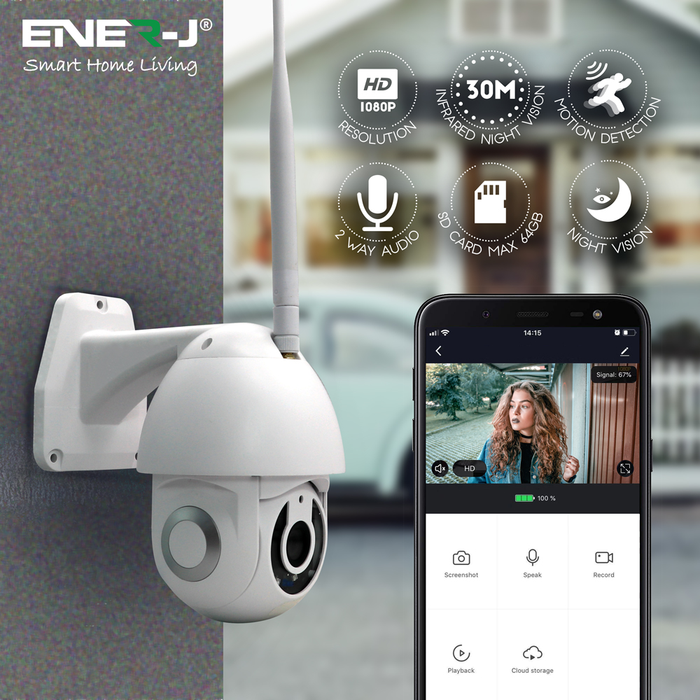 Smart Wifi IP Outdoor Dome Camera IP65