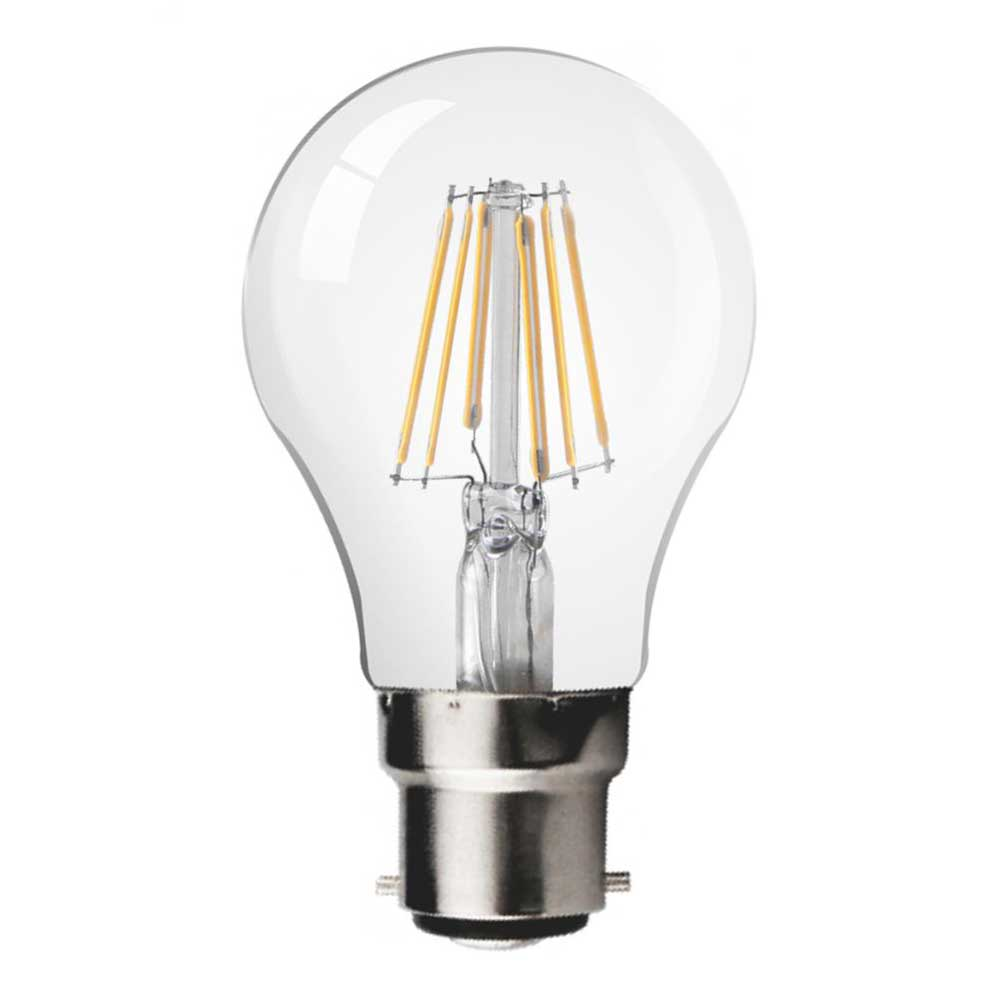 LED Bulb 6W B22 LED GLS FILAMENT BULB, CLEAR GLASS, 2700K (Pack of 10pcs)