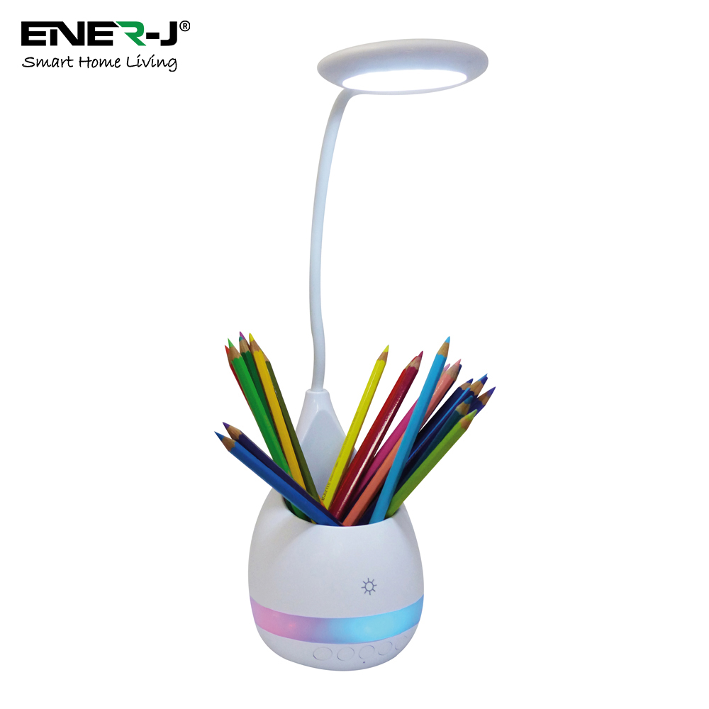 3 in 1 Desklamp, Penstand & Bluetooth Speaker